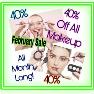 💝Hello February🌹40% Off Makeup All Month Long💝
